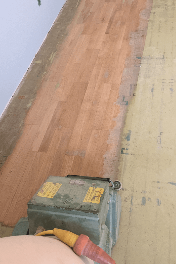 Droessler Parkett - Wiederherstellung von Teppichverlegung auf Parkett (Phase 1)