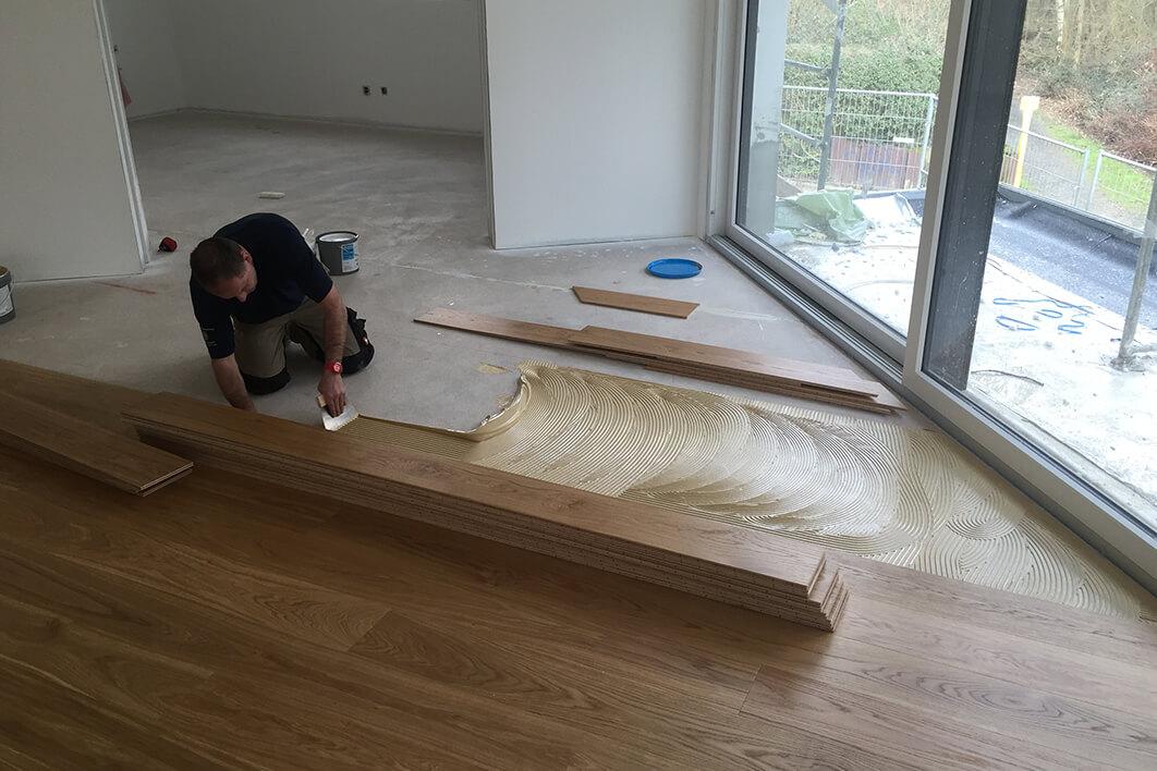 Droessler Parkett - Zweischicht Landhausdiele in Abwicklung (Phase 1)